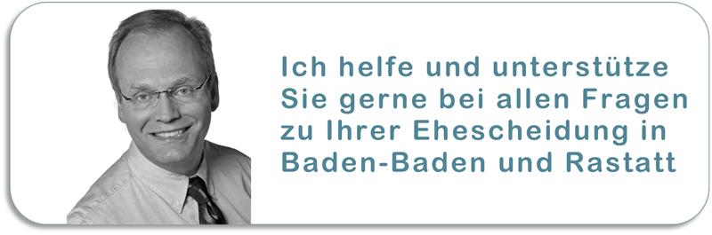 Ihr Scheidungsanwalt in Baden-Baden und Rastatt