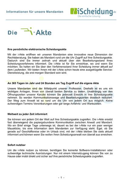 Informationen zur i-Akte